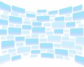 Blank touchscreen templates — Stock Photo