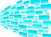 Blank touchscreen templates — Stock Photo