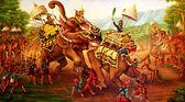 Battle scene painting — Stock Photo