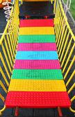 Plastic bridge on playground — Stock Photo