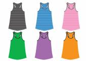 Colorful tank tops — Stock Photo