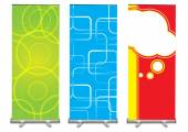 Banner stand displays — Stock Photo