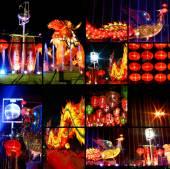 Colorful Asian lanterns — Stock Photo