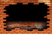 Pared de ladrillos rotos — Foto de Stock