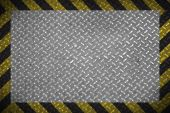 Metal plate with restriction line — Stock Photo