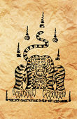 Asian style tiger — Stock Photo