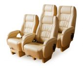 Leather car seats — Stock Photo