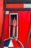 Pump at gas station — Stock Photo
