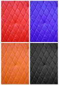 Quilted synthetic fabrics set — Stock Photo