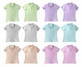 Pastel polo t-shirts — Stock Photo