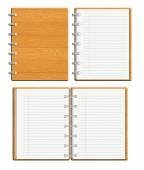 Blank notebook templates — Foto Stock
