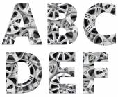 Patterned set of letters — Stock Photo