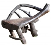 Rough timber chair — Stock Photo