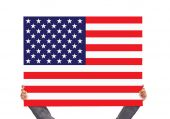 Board with USA flag — Stock Photo