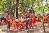 Korkunç Budist heykeller — Stok fotoğraf