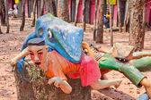 Gruesome Buddhist statues — Foto de Stock