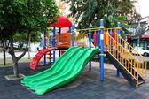 Colorful plastic playground — 图库照片