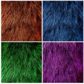 Natural fur textures set — Stock Photo