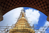 Reconstruction of golden stupa — Stock Photo