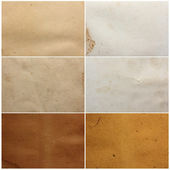 Assorted paper textures — Stock Photo
