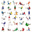 Collection of soccer players — Stock Vector #62745611