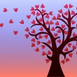 Love tree with leaves of hearts. — Stock Vector #58150329