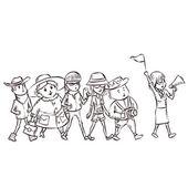 Guide touristique avec groupe de touristes image for Tarif paysagiste reunion