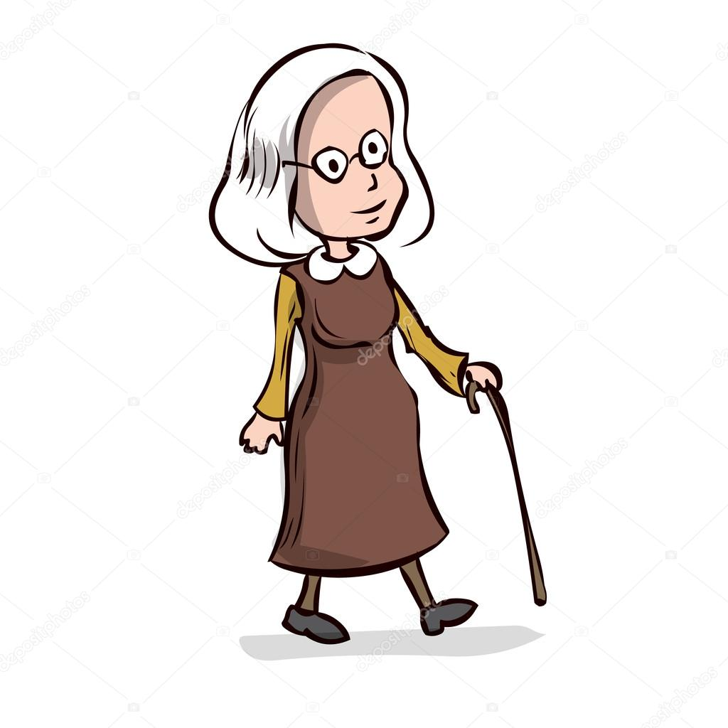 Old Lady Cartoon Character Stock Vector 169 Dergriza