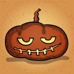Hand drawn halloween pumpkin. Cartoon vector illustration. — Stock Vector #53601765