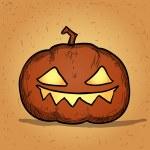 Hand drawn halloween pumpkin. Cartoon vector illustration. — Stock Vector #53601767