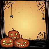 Cute hand drawn halloween background — Stockvector