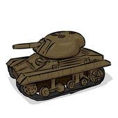 World War 2 American light tank M22 Locust. Hand drawn illustration. — Vecteur