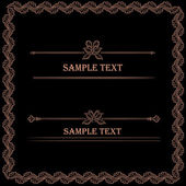 Hand drawn vintage frames and design elements — Stock Vector