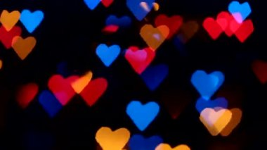 Flashing hearts on Valentine's Day — Vidéo
