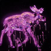 Abstract Moose Painting — Stock Photo