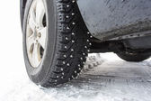 Spike studded tires — Stock Photo