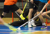 Floorball — Stock Photo