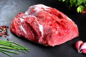 Fresh and raw meat. Whole piece of red meat ready to cook on the grill or barbecue — Stock Photo