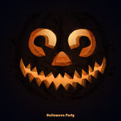 Scary Halloween pumpkins for party invitations with space for your text. Vector illustration. — Stock Vector