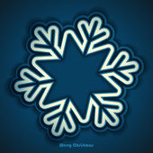 Abstract winter design with snowflake on striped background and space for text. Vector illustration. — Stock Vector