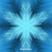 Abstract winter design with snowflake on striped background and space for text. Vector illustration. — Stockvector