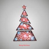 Kış vektör arka plan, metin için yer gazetedeki Noel ağacı kesi silüeti. Sezon zemin. Kış şablonu. — Stok Vektör