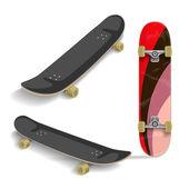 Set of skateboards. Summer fun. Vector illustration. — Stock Vector