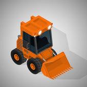 Vector isometric illustration of a mining excavator. Equipment for high-mining industry. — Stock vektor