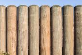 Wood Pole Fence Section — Foto Stock