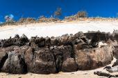 Beach Sands Rocky Colors — Stock Photo