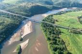 Flying Air River Bridge Landscape — Stock Photo