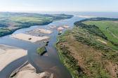 Flying Air River Lagoon Ocean Landscape — Stock Photo