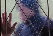 Burglar Thief  Window — Stock Photo