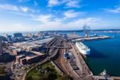 Durban Harbor Air Landscape — Stock Photo